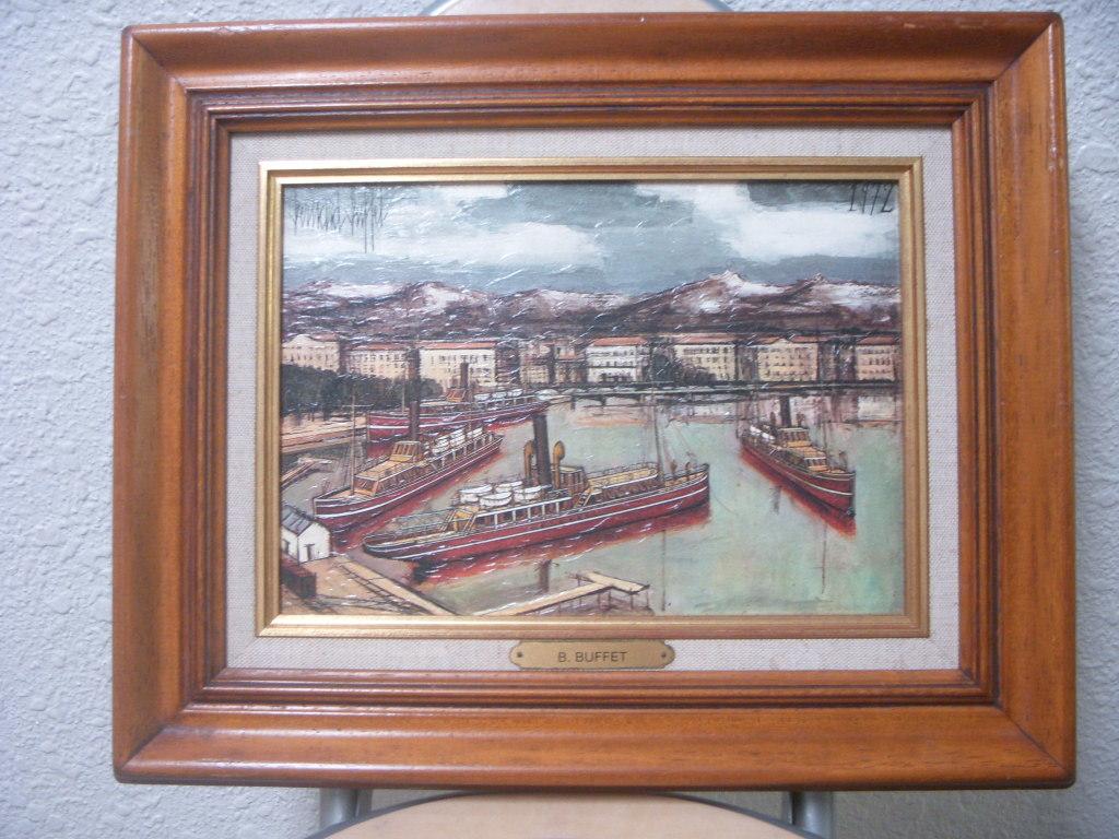 「千櫻」模写・フランス製絵画リトグラフ ベルナール・ビュッフェ