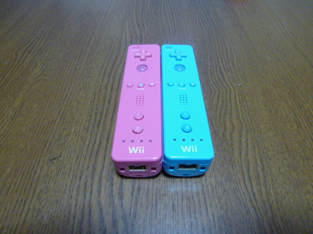 R49【送料無料 即日配送 動作確認済】Wii リモコン  2個セット ブルー ピンク
