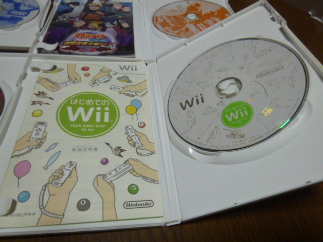 O14【即日配送 送料無料 動作確認済】Wiiソフト ナルト 疾風伝 EX EX2 EX3 はじめてのWii