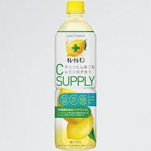 新品 目玉 キレ-トレモンCサプライ(栄養機能食品(ビタミンC)) ポッカサッポロ Y-D5 900ml×12本_画像1