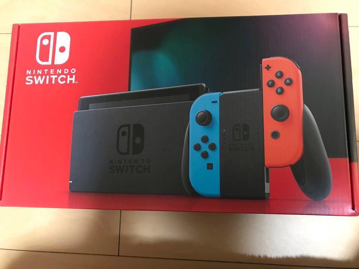 新品 新型 ニンテンドー スイッチ Nintendo SWITCH ネオンブルー ネオンレッド 本体 セット_画像1