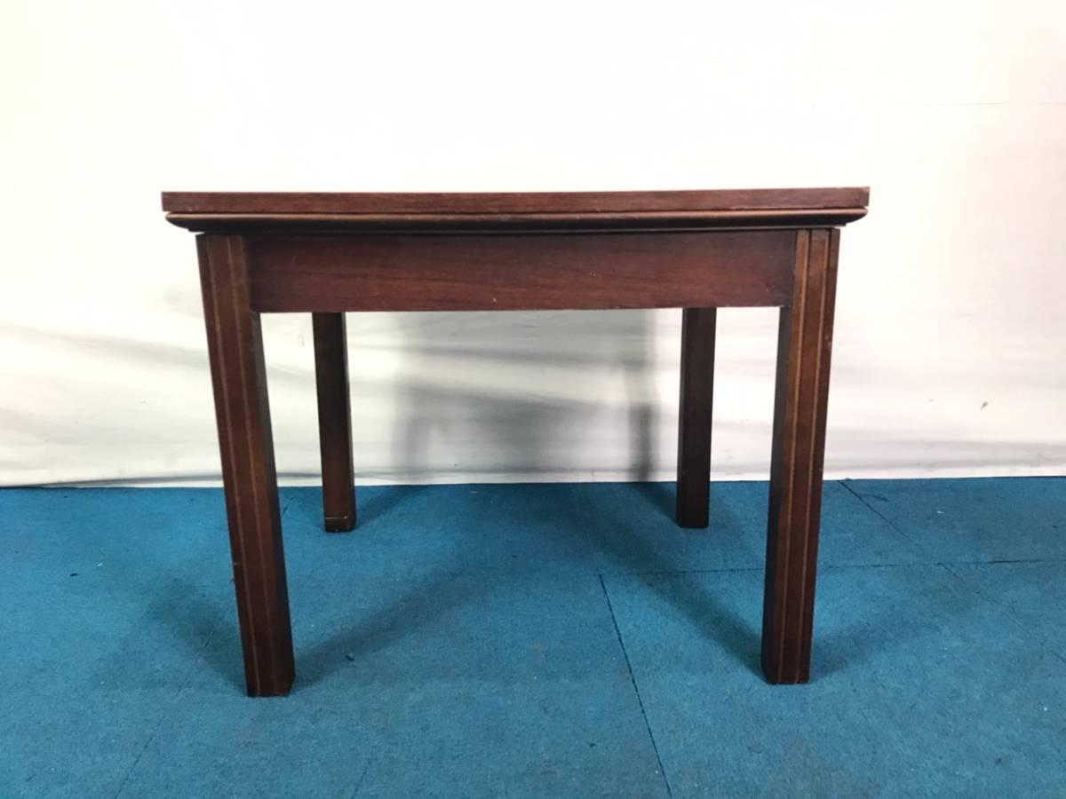 【米軍放出品】A サイドテーブル ナイトテーブル エンドテーブル アンティーク ビンテージ W66×D56×H53.5cm(160) ☆EB17FM_画像2