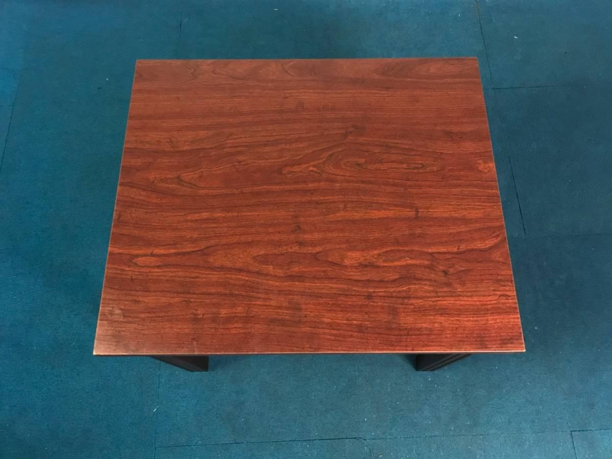 【米軍放出品】A サイドテーブル ナイトテーブル エンドテーブル アンティーク ビンテージ W66×D56×H53.5cm(160) ☆EB17FM_画像3