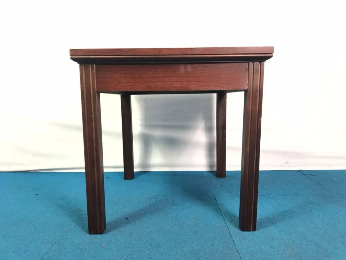 【米軍放出品】A サイドテーブル ナイトテーブル エンドテーブル アンティーク ビンテージ W66×D56×H53.5cm(160) ☆EB17FM_画像4