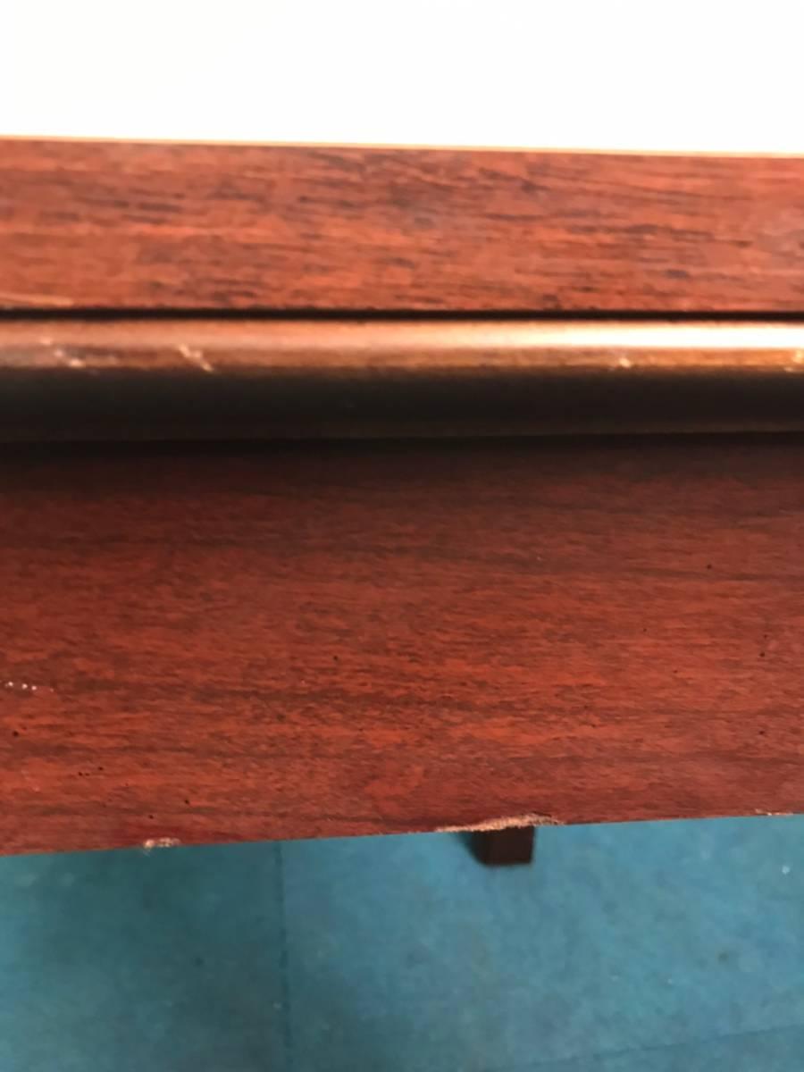 【米軍放出品】A サイドテーブル ナイトテーブル エンドテーブル アンティーク ビンテージ W66×D56×H53.5cm(160) ☆EB17FM_画像8