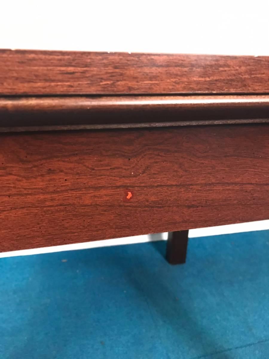 【米軍放出品】A サイドテーブル ナイトテーブル エンドテーブル アンティーク ビンテージ W66×D56×H53.5cm(160) ☆EB17FM_画像9