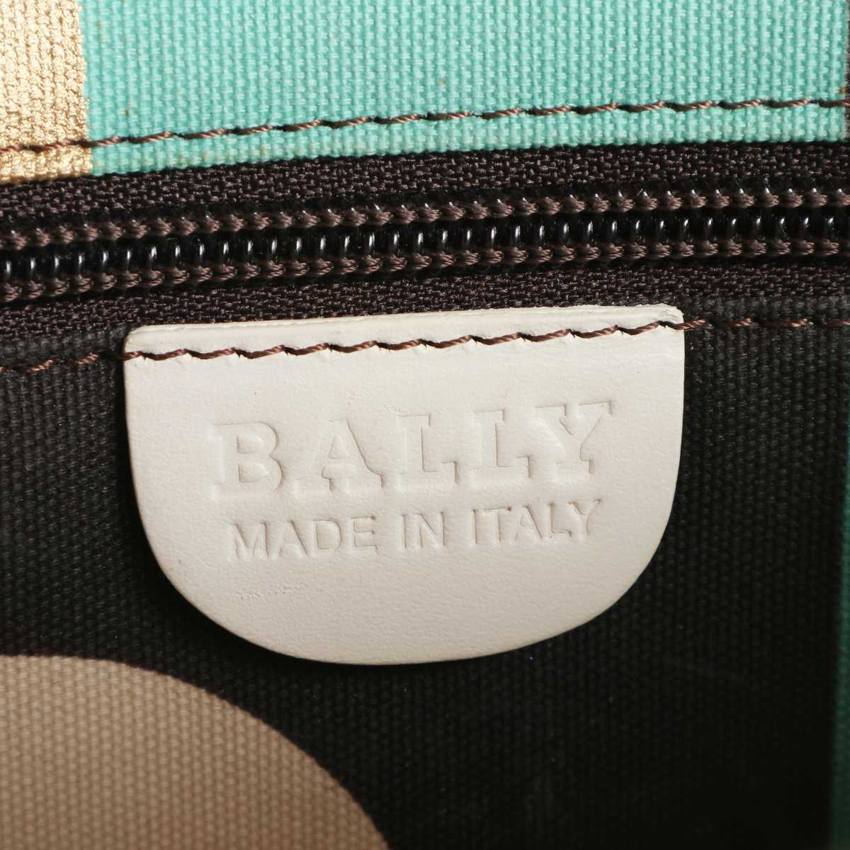 BALLY バリー ヴィンテージ レザー ハンドバッグ ホワイト 0-11659_画像8
