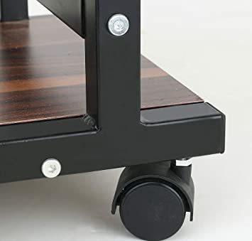 ■★▲ブラウン NeatClean サイドテーブル 昇降式 コの字型デザイン 可移動デスク キャスター付きデスク 収納棚 付き _画像8