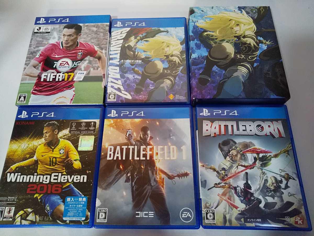 PS4 ソフト 5本セット グラビティデイズ2 ウイイレ バトルフィールド バトルボーン FIFA