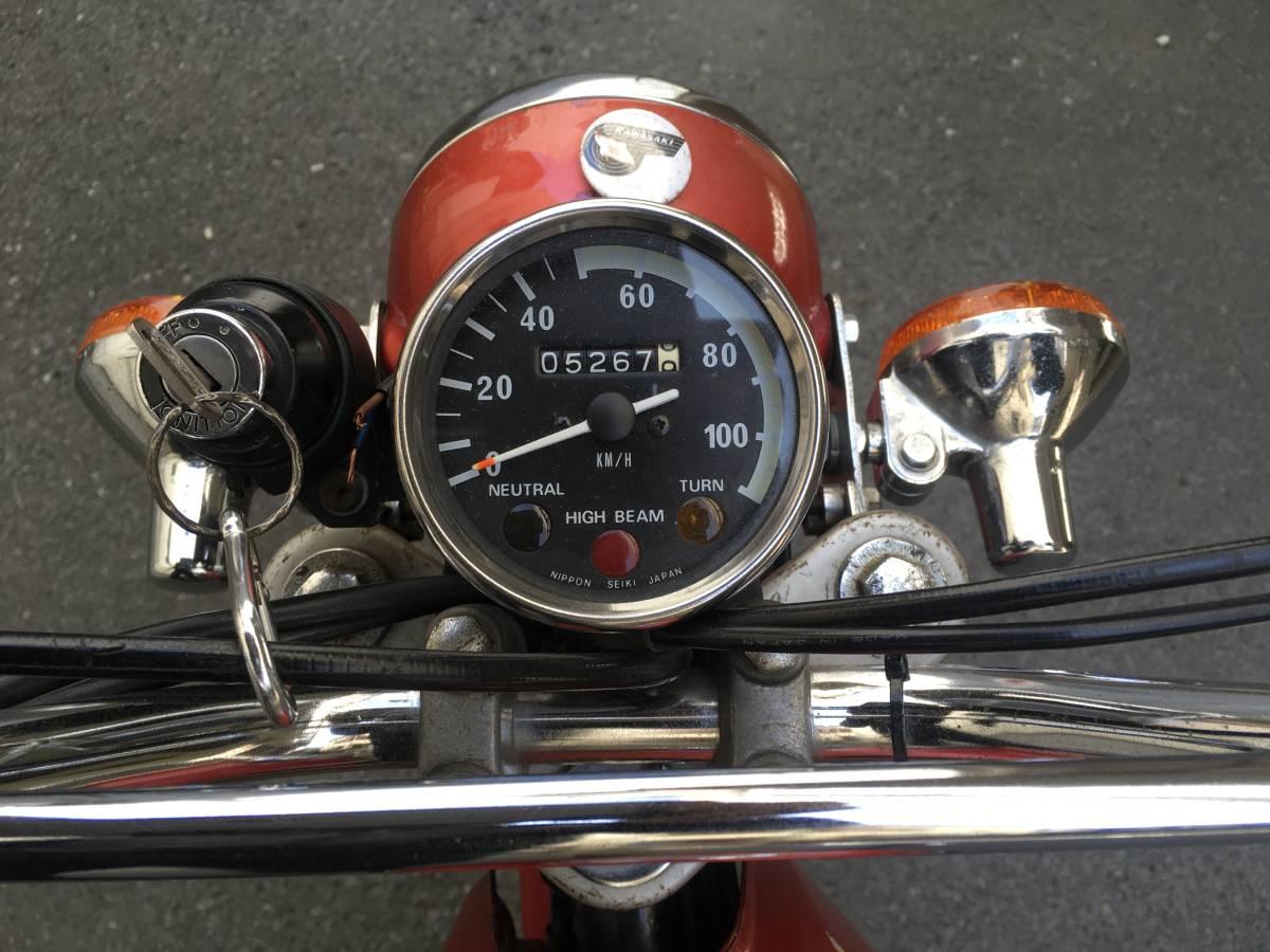 カワサキ KM90 実働 新車購入 KM100 バイソン セカンドバイク  走行5000キロ_画像6
