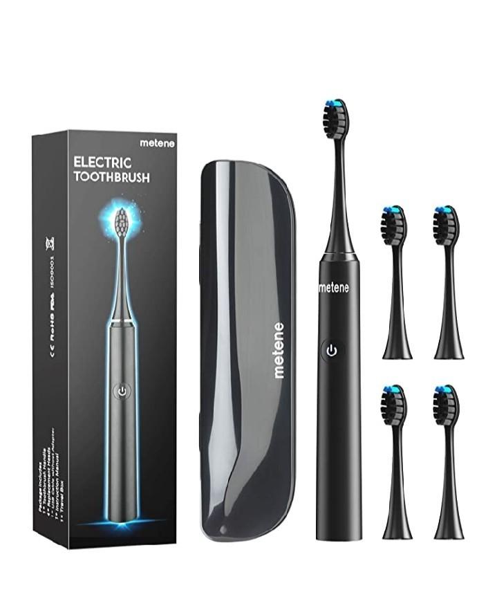 電動歯ブラシ 歯ブラシ Metene 音波歯ブラシ ソニック 5つのモード 替え