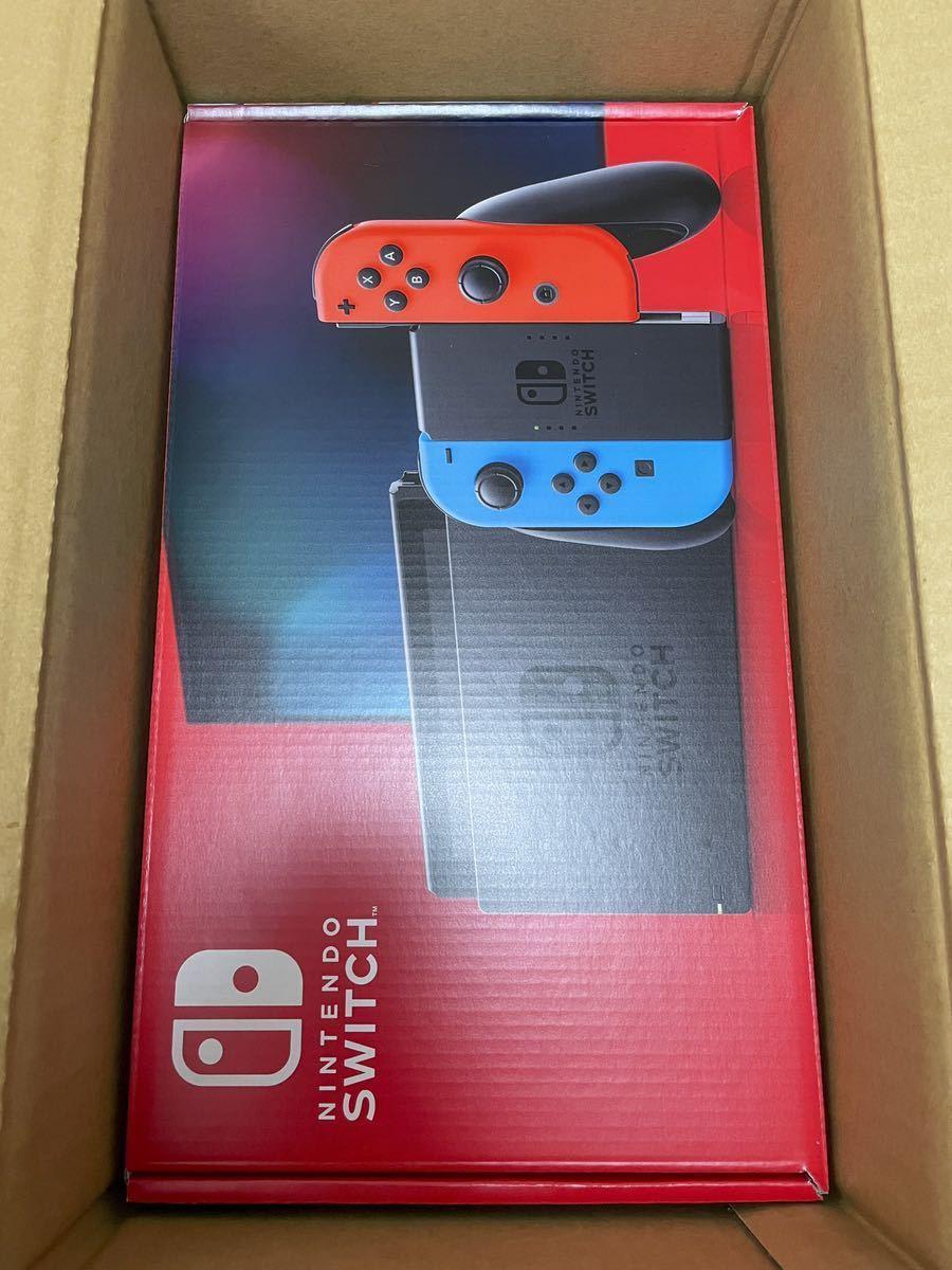 新品 新モデル Nintendo Switch 本体 (ニンテンドースイッチ) Joy-Con(L) ネオンブルー/(R) ネオンレッド おまけ付き