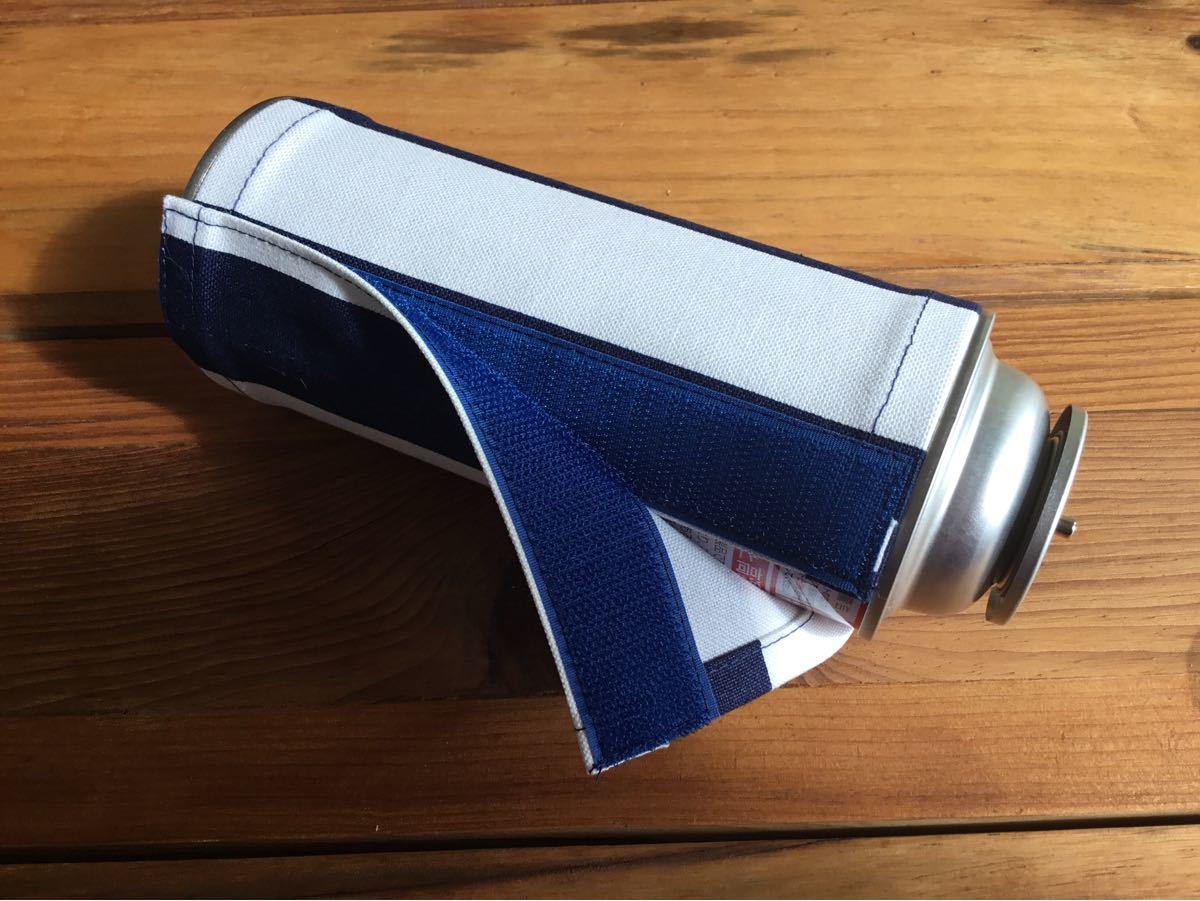 CB缶カバー(ストライプ柄)国産帆布使用!春キャンプの素敵なアイテム。