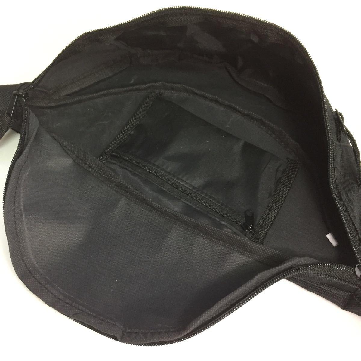 ウエストバッグ ボディバッグ ウエストポーチ メンズ レディース 新品 ウエストバック BLACK 黒