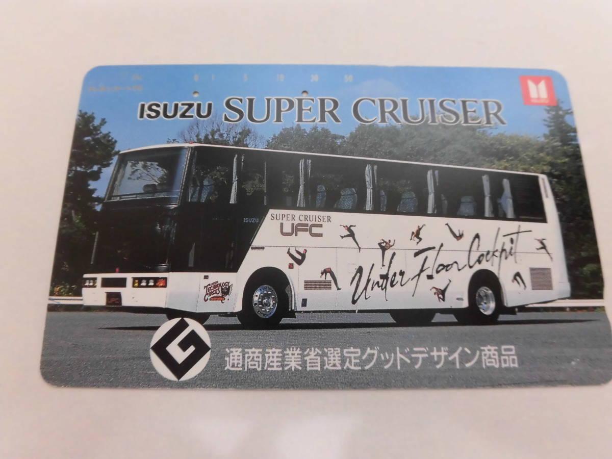 使用済み テレカ テレホンカード バス ISUZU SUPER CRUISER A44_画像1