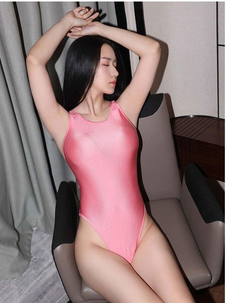 超sexy キラキラ光沢 背魅せ 美脚 水着風 ハイレグ レオタード ボディスーツ コスプレ スクール水着 レースクイーン 新体_画像8