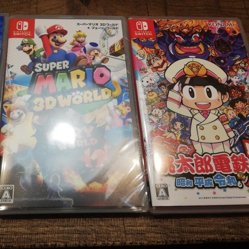 Switchソフト!桃太郎電鉄+スーパーマリオ3Dワールド!新品未開封
