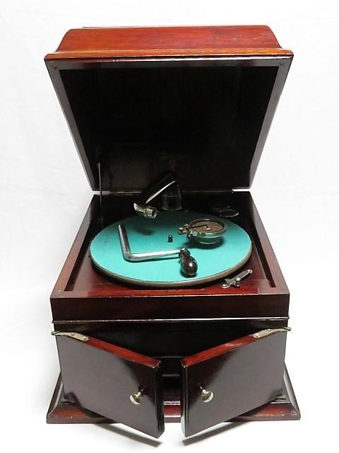 蔵出し/NAPOLEON No.6 ナポレオン 蓄音機 ターンテーブル レトロ アンティーク ヴィンテージ 現状品