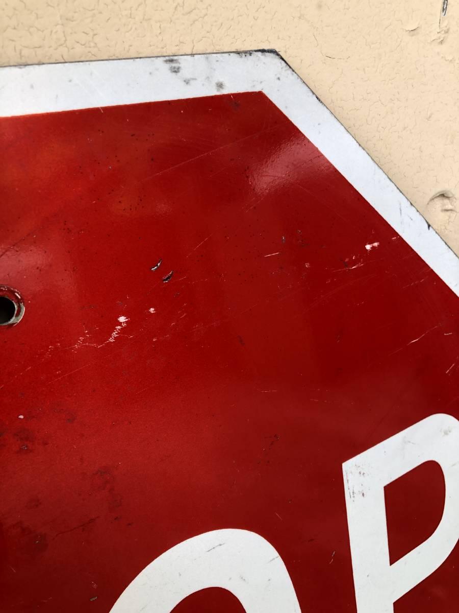 ★本物★アメリカ 道路標識 STOP ストップ ビッグサイズ★S-3★ロードサイン road Sign ガレージ 世田谷ベース アメリカン 看板 ビンテージ_画像3