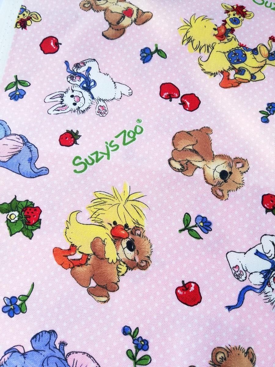 Suzy's Zoo*スージーズーはぎれピンク生地 ハンドメイド 入学入園