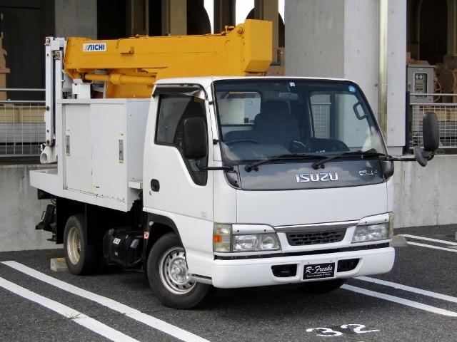 「即決!いすゞ エルフ 高所作業車 アイチ製 SE08A(8m) 5速MT ディーゼル NOx適合 バックカメラ」の画像1