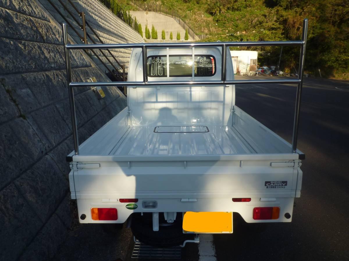 全メーカー対応 軽トラック用 オールステンレス リアポスト 荷受け 鳥居アングル Typeハード ハイゼット キャリー クリッパーミニキャブ等_画像2