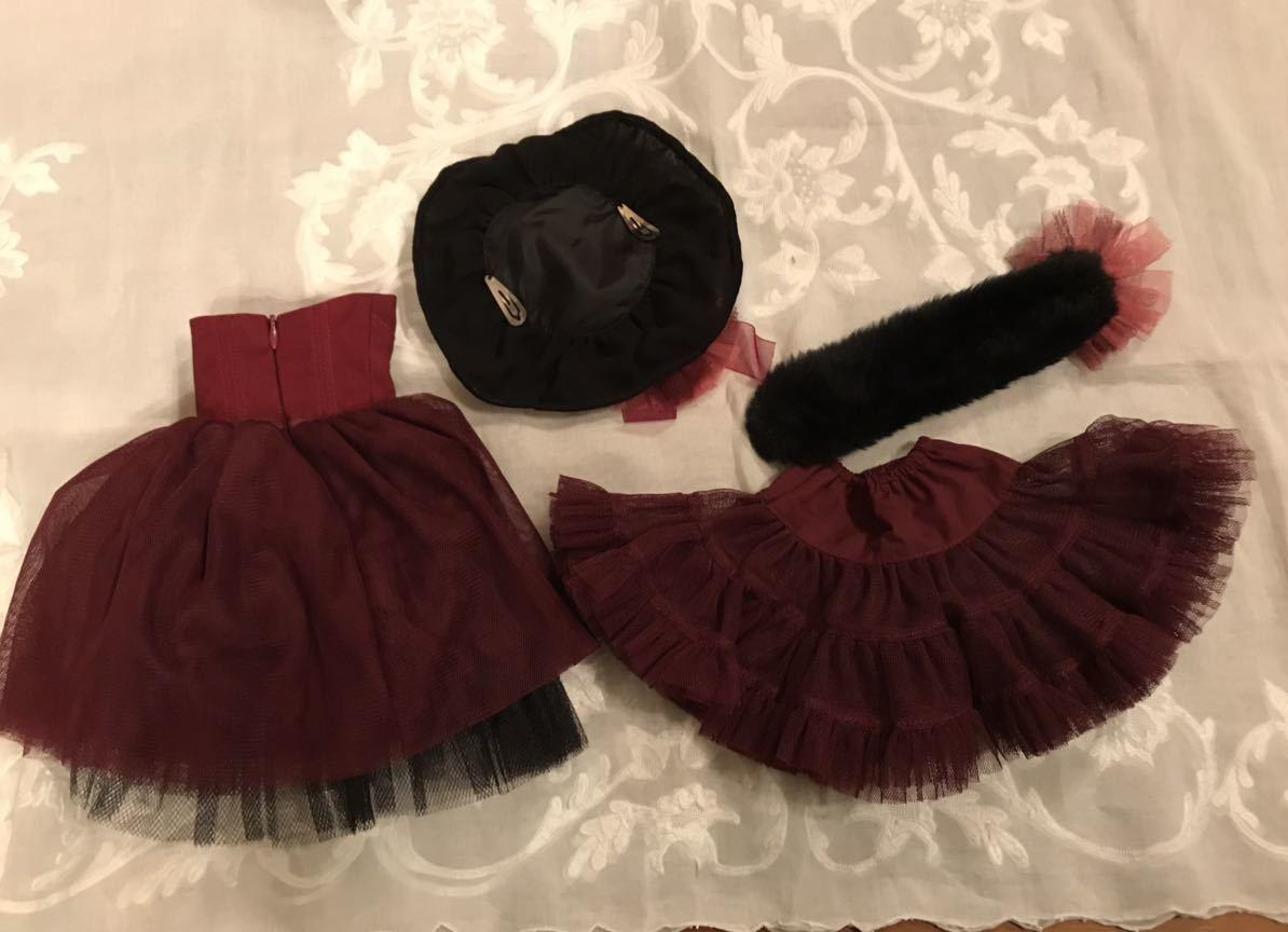 SD13サイズ 赤紫のドレスセット_後