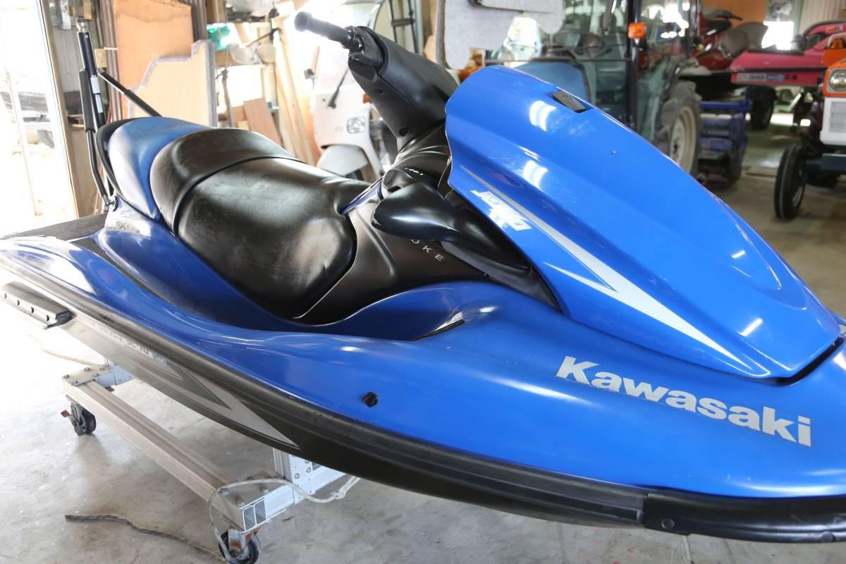 【兵庫】カワサキ STX-15F 青 ウェイクポール付き 書類あり 一応エンジン始動します!_画像1