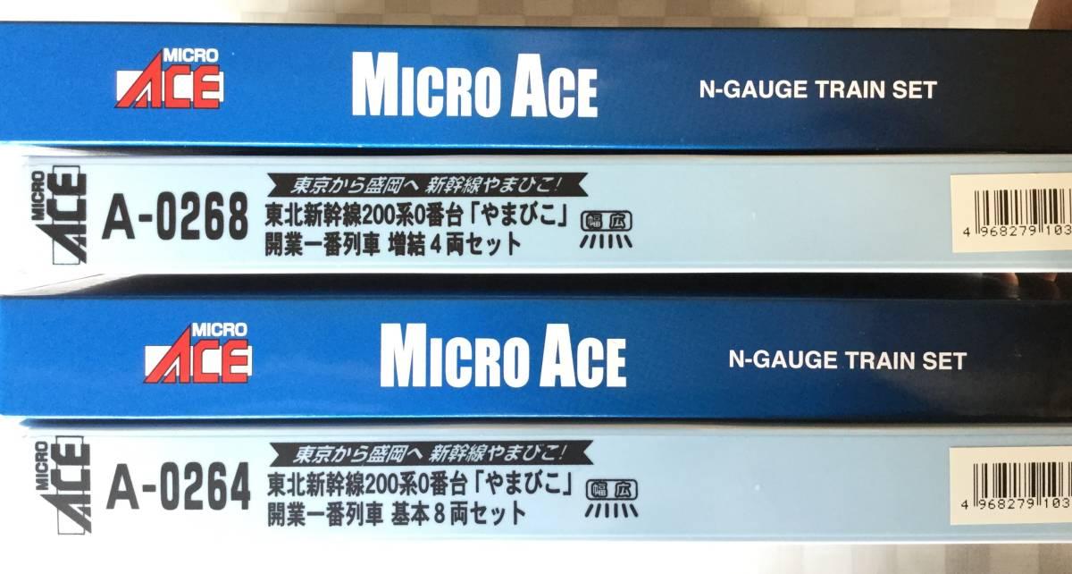 マイクロエース A0264 200系0番台 「やまびこ」開業一番列車基本8両セット & A0268増結4両セット_画像2