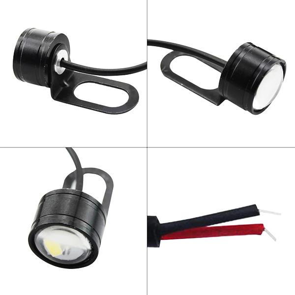 広角照射 LED/テール/ブレーキ/ランプ バックフォグ ステー付 赤 MT-25 MT-03 MT-07 MT-09 YZF-R1 YZF-R6 YZF-R25 YZF-R3 YZF-R125_画像2