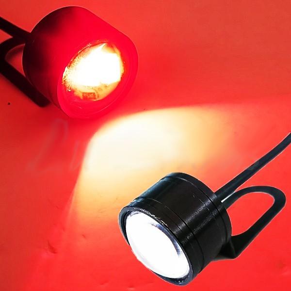 広角照射 LED/テール/ブレーキ/ランプ バックフォグ ステー付 赤 MT-25 MT-03 MT-07 MT-09 YZF-R1 YZF-R6 YZF-R25 YZF-R3 YZF-R125_画像1
