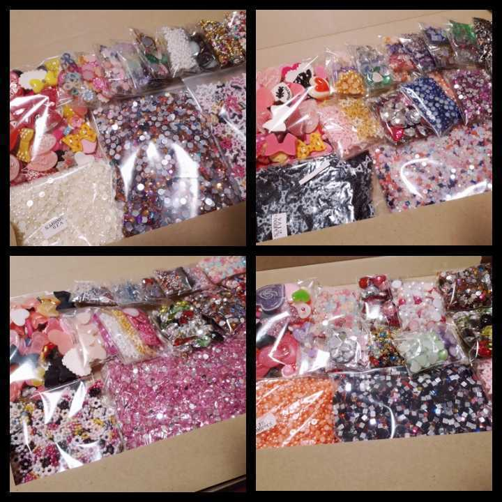 ③ りぼん・ハート系デコパーツ&パールパーツ&ストーン ◆福袋◆大量◆ ハンドメイド_画像1