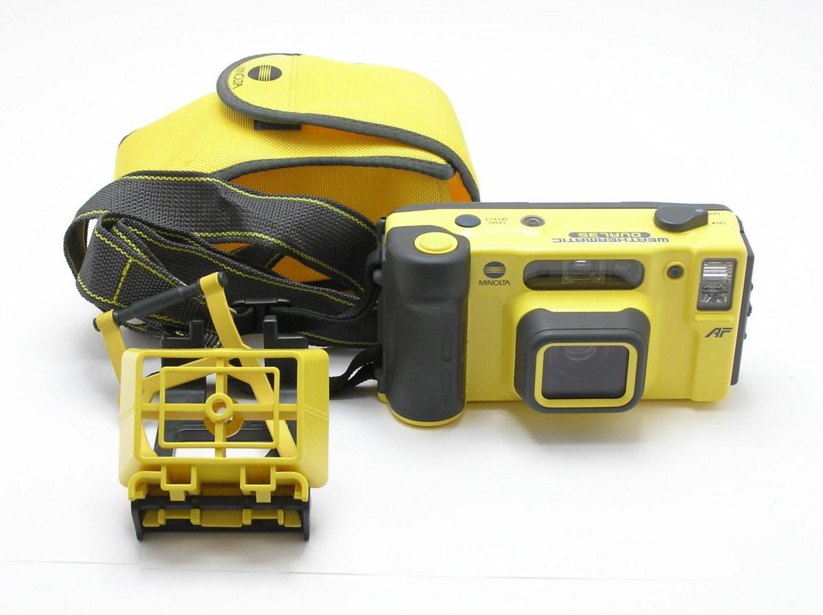 ★ハローカメラ★ 7805 MINOLTA 全天候型 WEATHERMATIC DUAL 35 AF ケース付 動作品  現状  1円スタ-ト
