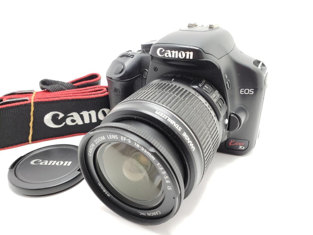 ★ハローカメラ★7711 Canon EOS Kiss X2 18-55mm F3.5-5.6 IS USM [1240万画素] 動作品  現状  1円スタ-ト