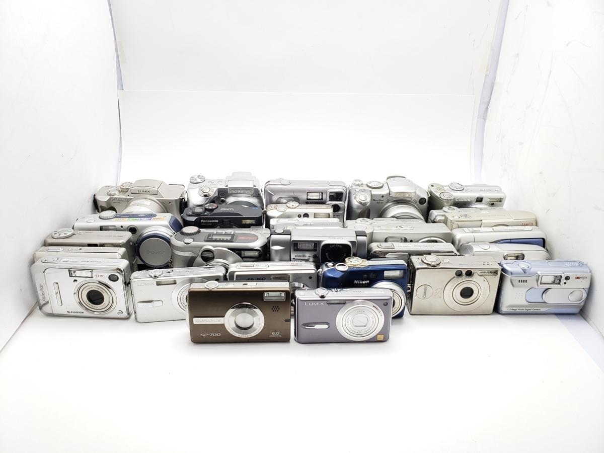 ★ハローカメラ★7770 Panasonic DMC-FX9 他.デジタルカメラ(30台セット)未確認品.ジャンク扱い動作保証なし