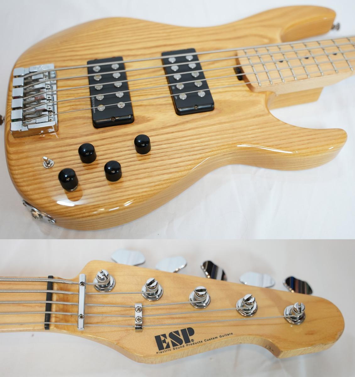 「ESP AP-250SL5 Natural Ashボディ 5弦ベース Seymour Duncanピックアップ搭載モデル (ESP エレキベース)」の画像