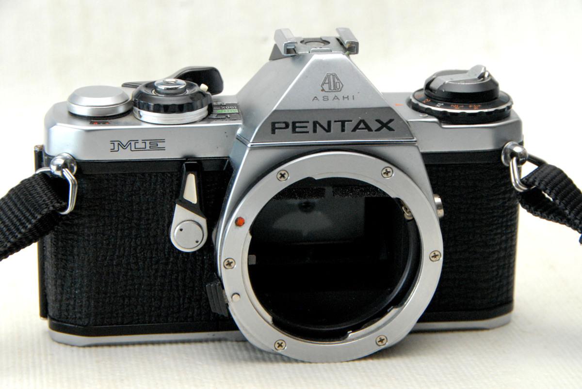 PENTAX ペンタックス 昔の高級一眼レフカメラ MEボディ 作動品 (腐食無し)