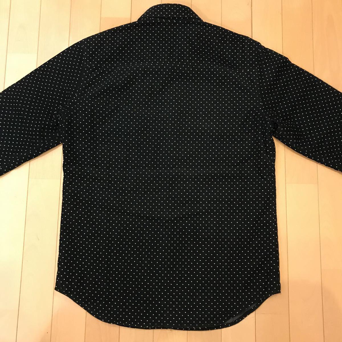 美品 Supreme Dot Corduroy Shirts 黒 S シュプリームドットコーデュロイシャツ 中綿ライナー_画像5