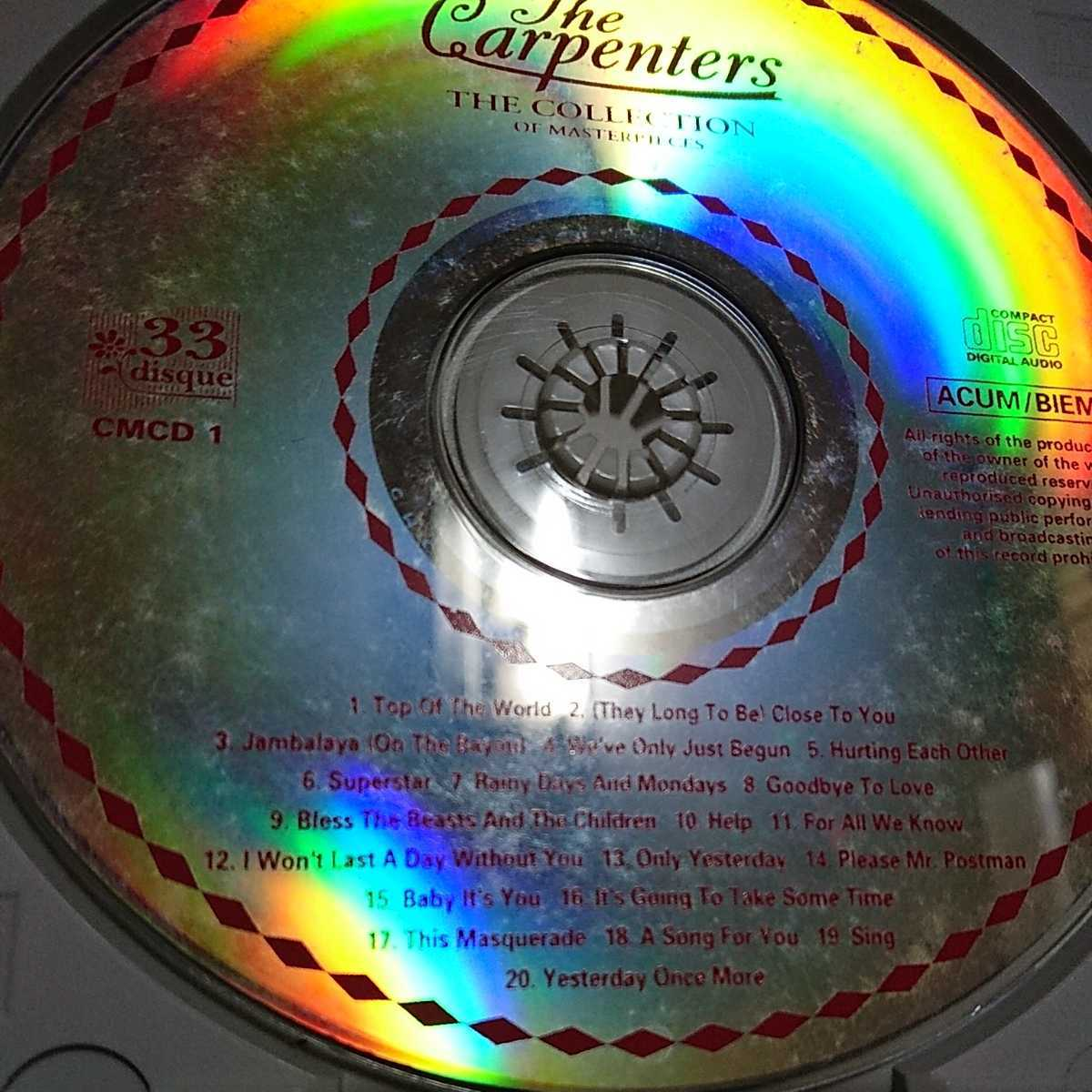 THE CARPENTERS THE COLLECTION OF MASTERPIECES CD カーペンターズ