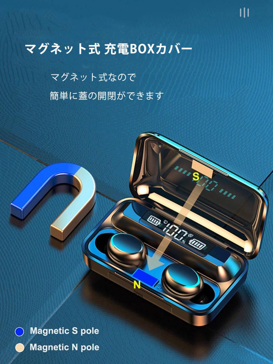 ワイヤレス イヤホン 白 防水 HiFiステレオ Bluetooth5.0 ハンズフリー ヘッドセット モバイルバッテリー イヤフォン