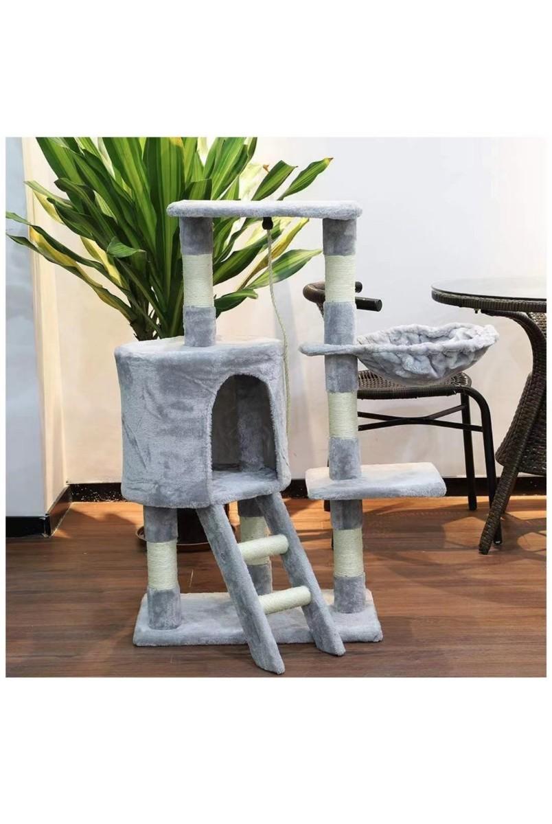 キャットタワー  猫タワー天然麻紐 大型猫ネコタワー 猫の爪スクラッチボード付き