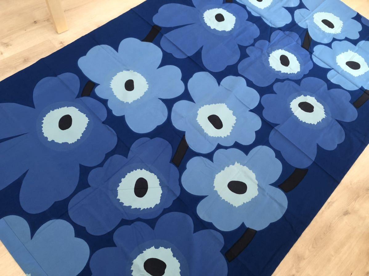 マリメッコ marimekko ウニッコ UNIKKO 生地 ブルー ヴィンテージ 水色 ファブリック クロス 青_画像2
