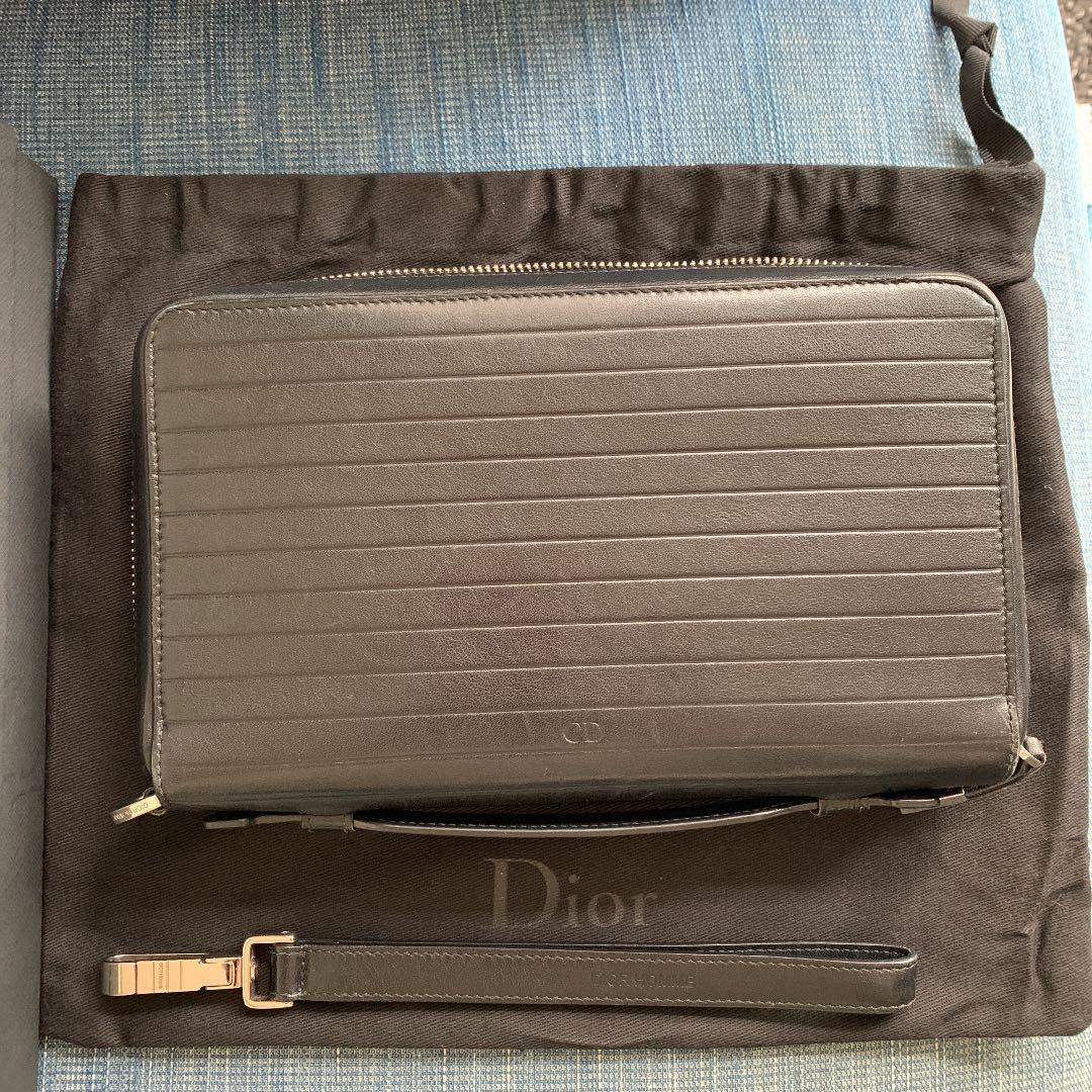 定価20万 ディオールオム Dior Homme 長財布 オールインワン トラベルケース オーガナイザー クラッチバッグ ルイヴィトン ベルルッティ_画像2