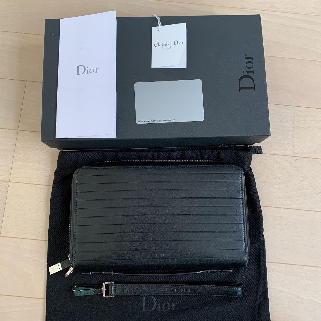 定価20万 ディオールオム Dior Homme 長財布 オールインワン トラベルケース オーガナイザー クラッチバッグ ルイヴィトン ベルルッティ_画像1