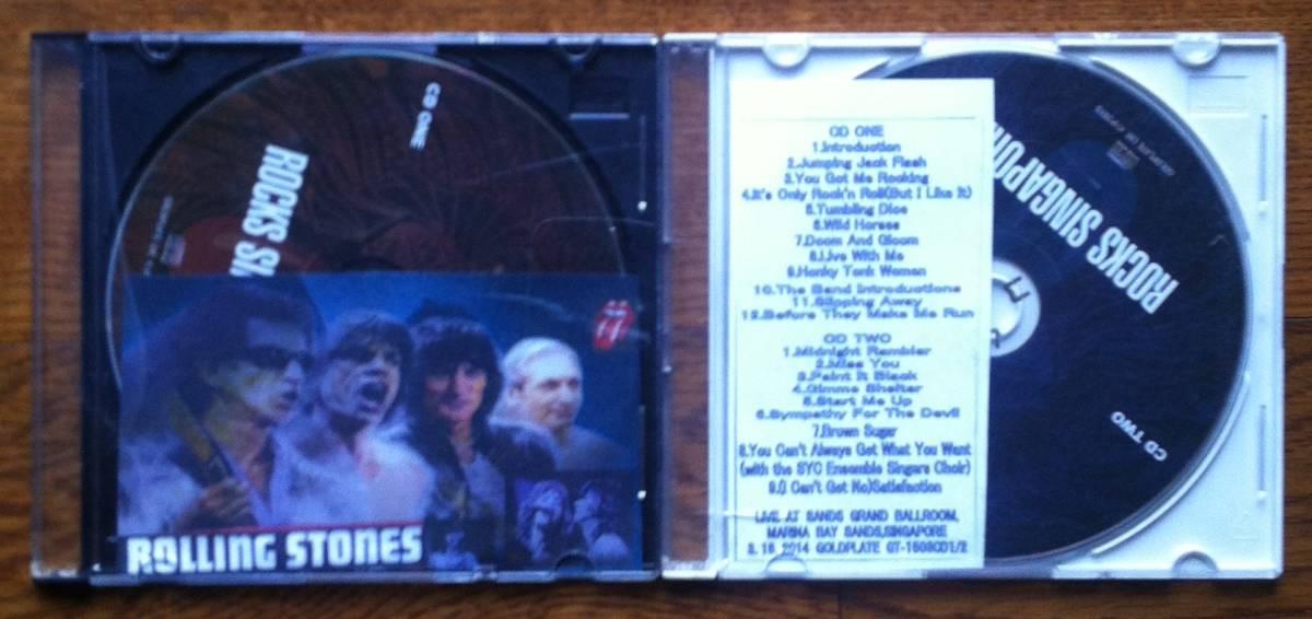 《新品》Rolling Stones「熱演!シンガポールLive 2014」2枚組コレクターズCD(プレス盤)【全国送料込み!】_画像1