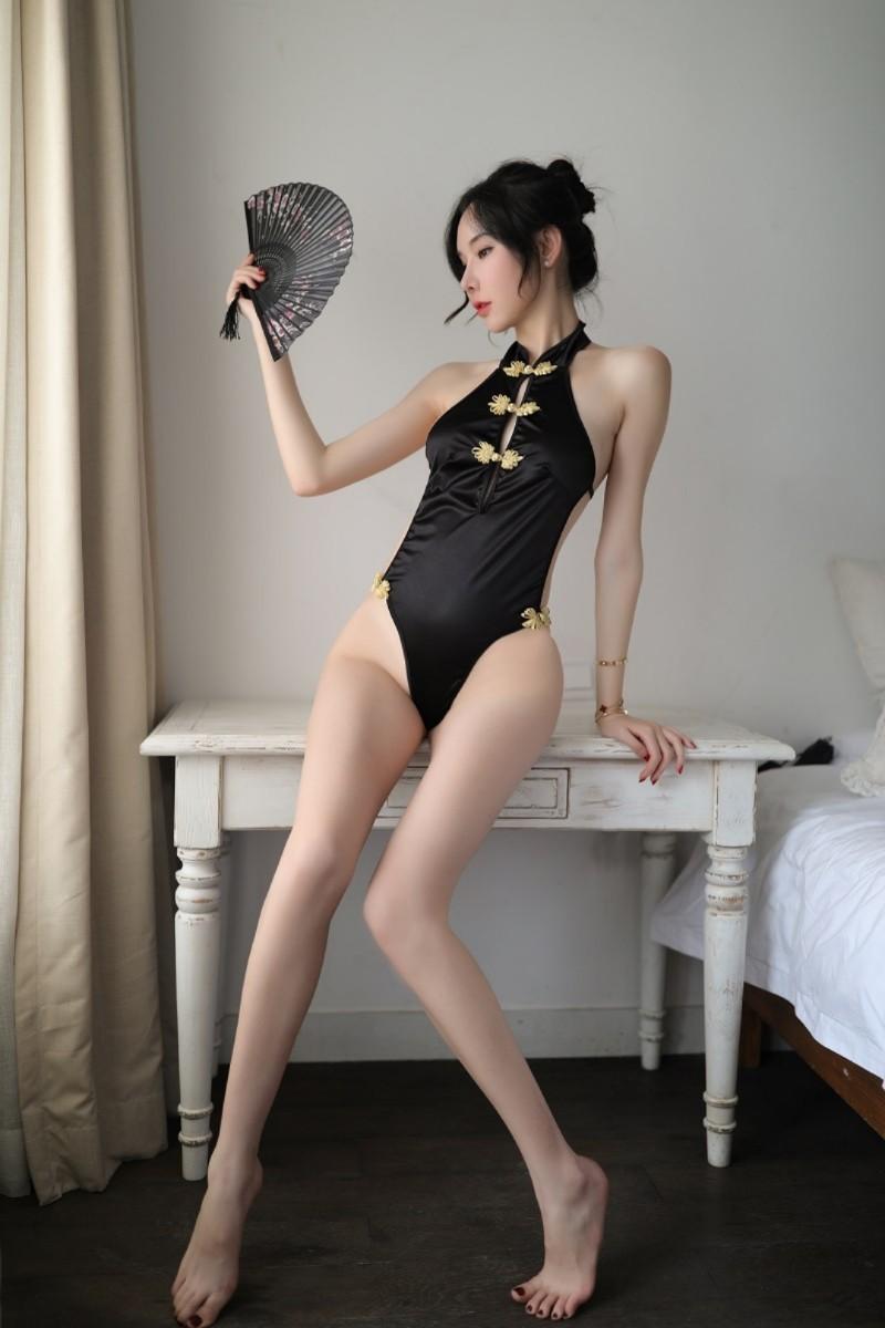 レオタード!セクシーチャイナドレス ナイトウェア コスプレ セクシー ボディスーツ サテン