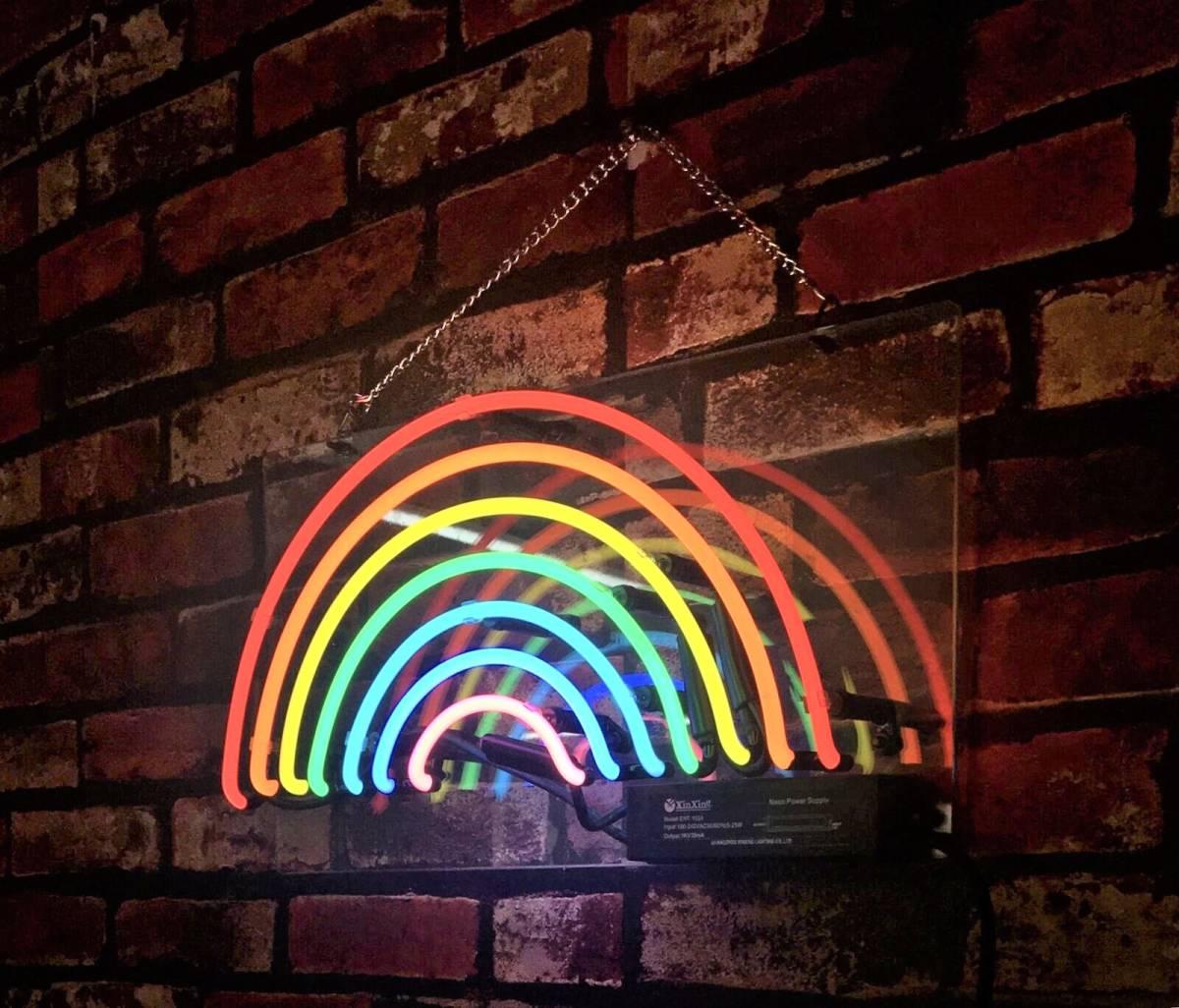 爆レア★虹 レインボー ネオンサイン 看板 幸せの架け橋 運気アップ ガレージ 世田谷ベース BAR カフェ ダイナーに♪_画像1