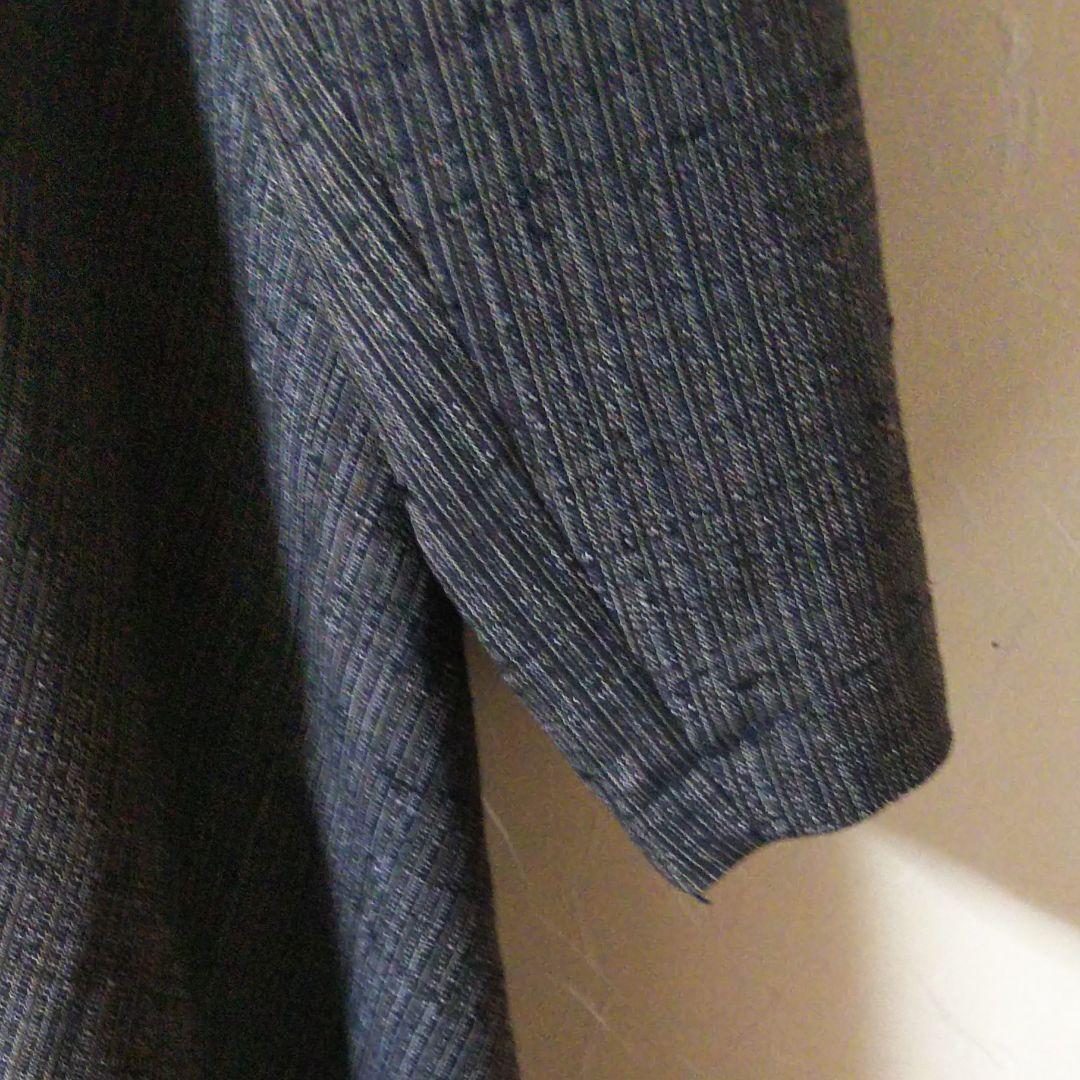 ワンピース、紬、着物リメイク、手作り_拡大