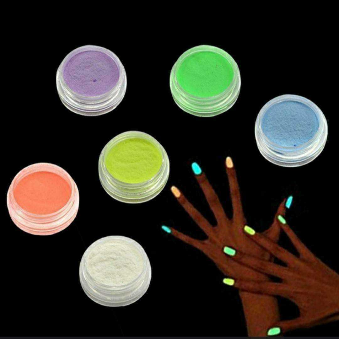 ネイル アート 材料 蛍光 6色 セット 3