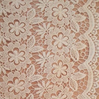 【おー様専用です♪】花柄 綿系ケミカル刺繍レース生地 ホワイト 生地巾約85cm×50cm他レース生地1点